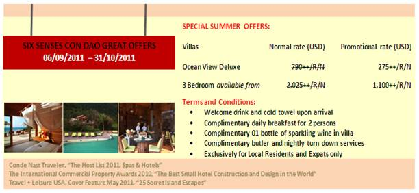 Special Summer Offers - Six Senses Resort and Spa